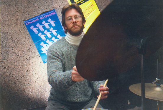 Gil demonstrating during some of his drumming lessons